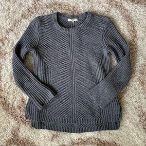 Madewell Gray Woven Sweater